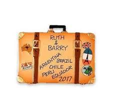 travel ornaments free personalization