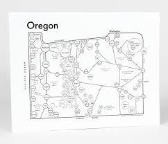 Burns Oregon Map Oregon Map Print U2014 Archie U0027s Press