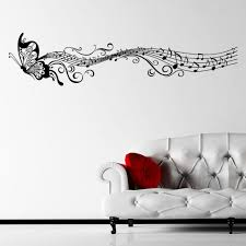 ebay musical butterfly music notes wall sticker decal hanging