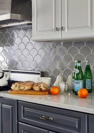 Moroccan Tiles Kitchen Backsplash by Before U0026 After Grey Moroccan Fish Scale Backsplash