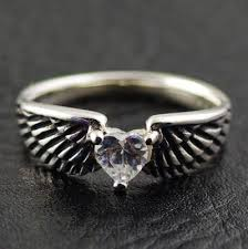 gothic jewelry rings images Japan gothic jewelry 925 sterling silver white diamond angel wings jpg