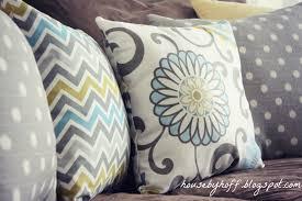 blue and gray sofa pillows yellow blue gray throw pillows pillow cushion blanket