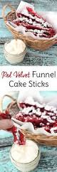 red velvet funnel cake sticks recipe funnel cake fries velvet
