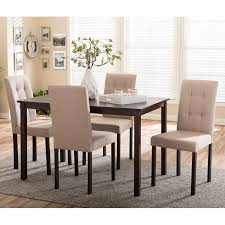 Dining Table Set Homelegance Tempe 5 Piece Metal Table With Faux Marble Top Dining