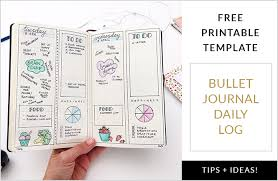 daily layout bullet journal bullet journal daily log free printable template plus tips and ideas