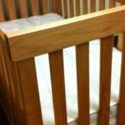 natural crib by pacific rim made with solid maple or cherry wood