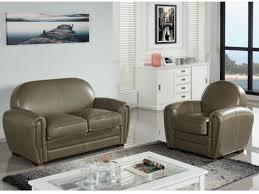 fauteuil et canapé canapé et fauteuil en cuir vieilli 3 coloris baudoin