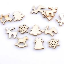 150pcs wood log slices xmas discs for diy crafts wedding