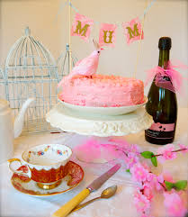 pennywise cheers pink champagne cake for mother u0027s day