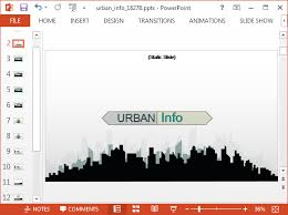 animated urban info powerpoint template