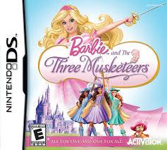 amazon barbie 3 musketeers nintendo ds video games