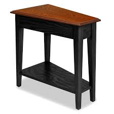 swing table for recliner amazon com leick recliner wedge end table black kitchen dining
