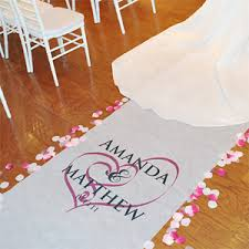 aisle runners for weddings hearts personalized wedding aisle runners aisle runners