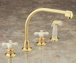 Widespread Kitchen Faucet Porcelain Cross Handle Faucet Valley Two Handle Widespread Kitchen