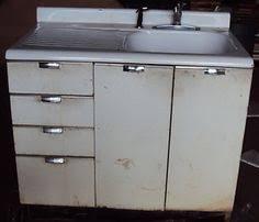 Vintage Retro Metal Kitchen Cabinet Cast Iron Sink EBay Tinny - Ebay kitchen sinks