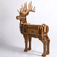 1 set 39 55 inch european style wood crafts large deer wooden