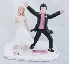 top comical wedding cake toppers with funny bride and groom