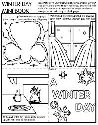 winter mini book coloring crayola