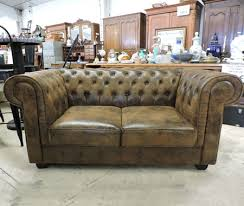 canap chesterfield 2 places cuir les salons neufs