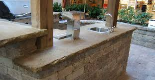 outdoor kitchen countertops ideas kitchen classic outdoor kitchen design with concrete