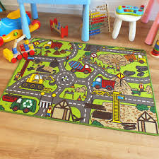superb childrens kids rug construction site road map play mat