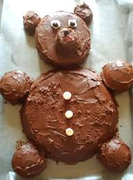 teddy bear cake cake decorating idea for birthday or baby shower