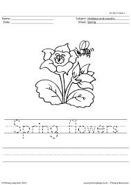 primaryleap co uk handwriting worksheet happy spring worksheet
