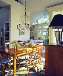 Coastal Dining Room by Innovative Plug In Chandelier Vogue Charleston Beach Style Dining