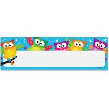 trend 69217 owl stars desk toppers nameplates learning theme