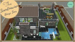scandinavian house tour my design sims freeplay youtube