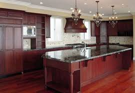 Marvelous Dark Cherry Kitchen Cabinets Kitchen Paint Colors With - Pictures of kitchens with cherry cabinets
