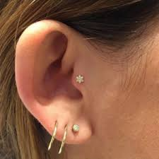 pierced ears without earrings ear piercing names what are the different ear piercings called