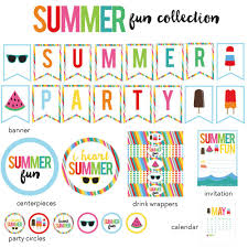 summer pool party bbq printables summer printables u2013 paper crush
