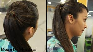 college hairstyles in rebonded hai hairstyles for long hair simple pony tail youtube