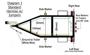 trailer light 4 pin flat wiring diagram wiring diagram