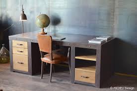 bureau industriel bois et metal meuble de style industriel table basse meuble tv micheli design