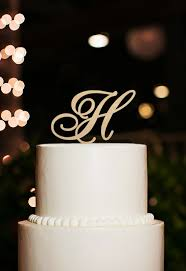 h cake topper monogram cake topper letter h cake topper for wedding h cake
