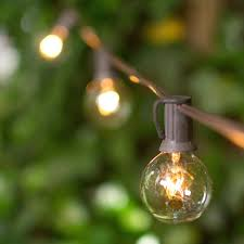 Glass Float String Lights by White Wire String Lights Lighting Design Outdoor Light Bulb String