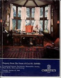 cecil b demille estate new york christie s east property from estate of cecil b demille oct