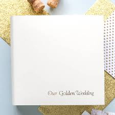anniversary photo album golden wedding photo albums