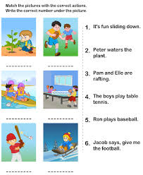 printable kids learning activity picture sentence worksheets