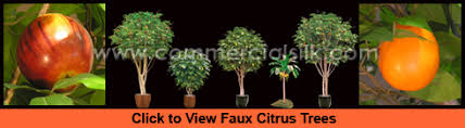 decorative faux citrus trees orange tree lemon tree