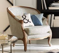 Next Armchair The Emily U0026 Meritt Bergere Upholstered Armchair Pottery Barn