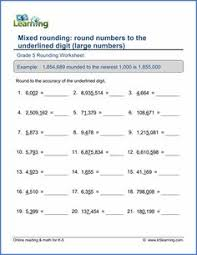 free rounding worksheets 4th grade vineeta singh svineeta201023 on