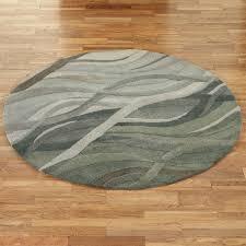 Grey Round Rug Casanova Wool Abstract Area Rugs