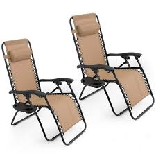 Patio Recliners Chairs Amazon Com Oshion 1 Pair Zero Gravity Chairs Black Lounge Patio