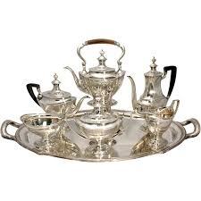 silver matching services co 7 pc sterling silver tea coffee service with
