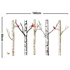 birch and birds tree wall decal vinyl wall by walldecaltree com