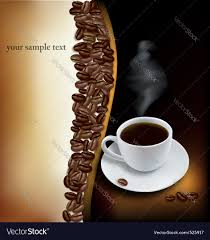 desing with cup of coffee and beans royalty free vector
