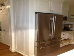 standard kitchen cabinet sizes chart above refrigerator storage
